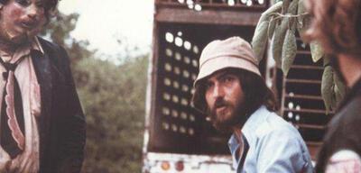 Tobe Hooper am Set von Texas Chainsaw Massacre