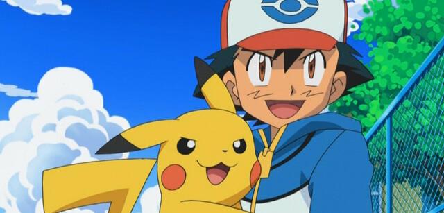 Pikachu und Ash in Pokémon