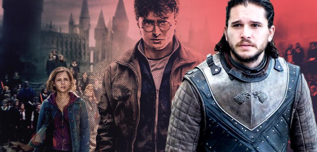 Kit Harington aus Game of Thrones und Daniel Radcliffe als Harry Potter