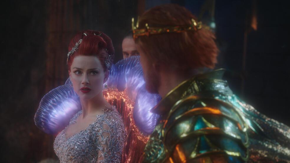 Aquaman mit Amber Heard und Dolph Lundgren
