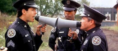 Steve Guttenberg als Mahoney, Michael Winslow als Jones, George Gaynes als Lassard | Police Academy