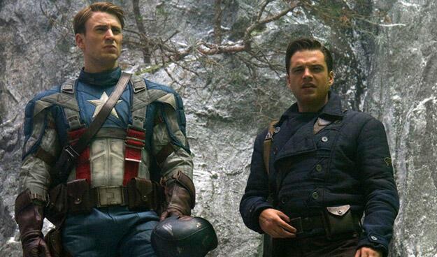 Captain America - The First Avenger mit Chris Evans und Sebastian Stan