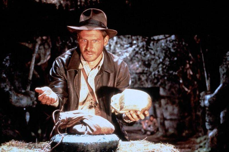 Jäger des verlorenen Schatzes mit Harrison Ford