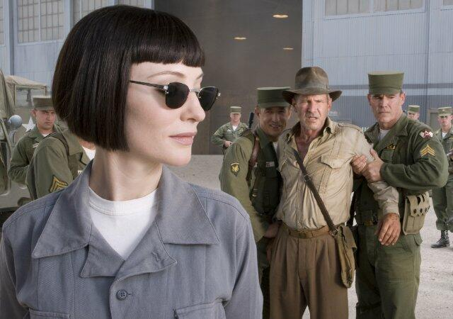 Indiana Jones und das Königreich des Kristallschädels mit Harrison Ford und Cate Blanchett