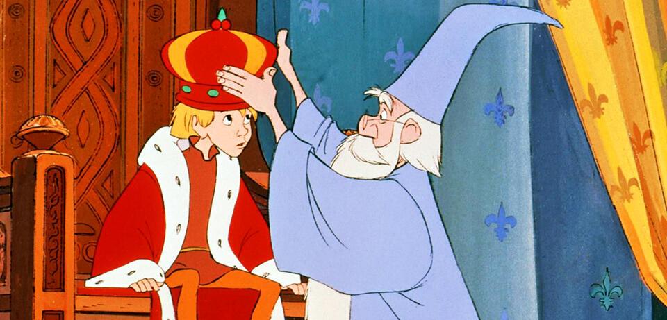 Floh ( König Arthur) und Merlin inDie Hexe und der Zauberer