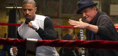 Michael B. Jordan und Sylvester Stallone in Creed