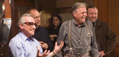 Martin Scorsese und Michael Ballhaus am Set von Departed