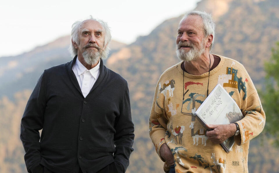 The Man Who Killed Don Quixote mit Terry Gilliam und Jonathan Pryce