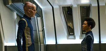 Bild zu:  Star Trek: Discovery:Doug Jones undSonequa Martin-Green