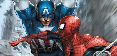 Captain America im Clinch mit Spider-Man