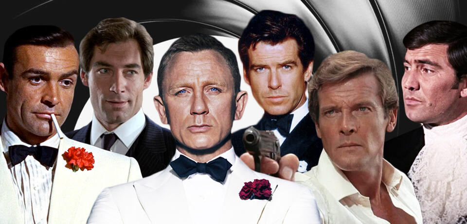 Alle James Bond-Darsteller