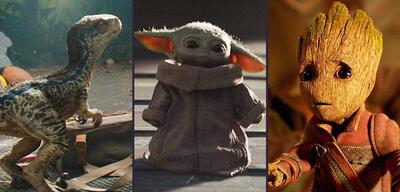 Franchises-Babys in Star Wars / Jurassic World / MCU
