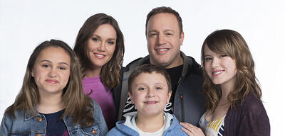 Kevin James und seine Familie in Kevin Can Wait
