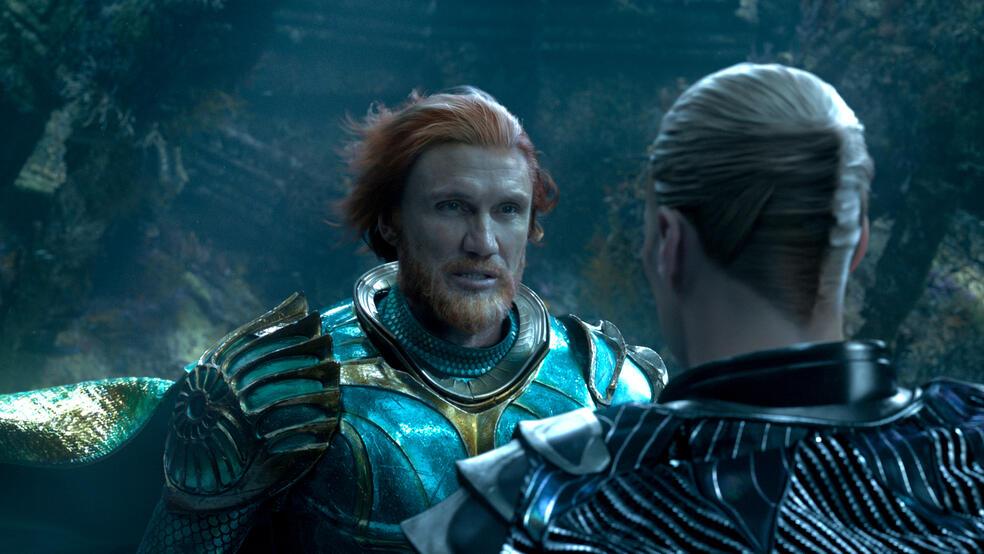 Aquaman mit Patrick Wilson und Dolph Lundgren