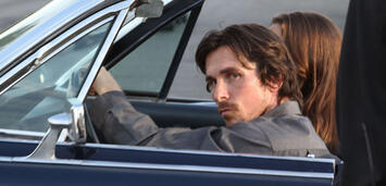 Bild zu:  Christian Bale am Set von Knight of Cups