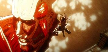 Bild zu:  Eren attackiert den Kolossalen Titan