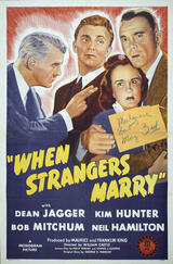 Heirate niemals einen Fremden - Poster