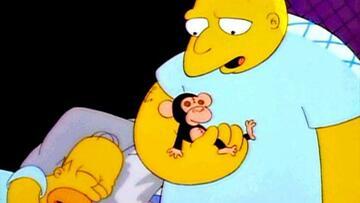 Michael Jackson sprach Leon Kompowsky (re.) in Die Simpsons