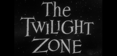 Der ikonische Twilight Zone-Schriftzug