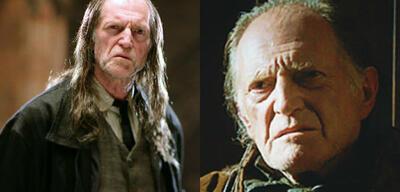 David Bradley als Walder Frey und Hausmeister Argus Filch.