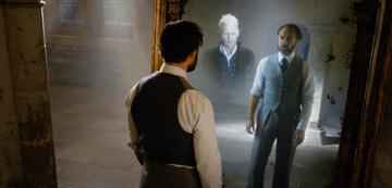 Phantastische Tierwesen 2: Dumbledore mit Grindelwald im Spiegel Nerhegeb