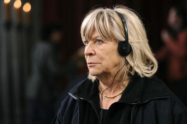 Regisseurin Margarethe von Trotta am Set