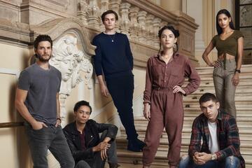 Shadow and Bone-Cast (v.l.n.r.): der Dunkle, Jasper, Kaz, Alina, Malyen, Inej