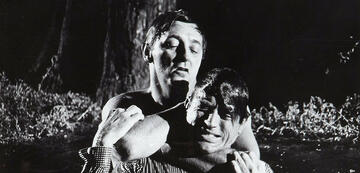 Robert Mitchum und Gregory Peck in Ein Köder für die Bestie