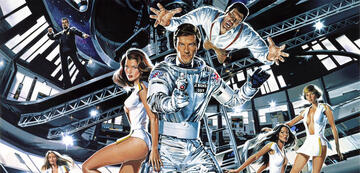 Selbst in Moonraker blieb sich die Bond-Musik treu.
