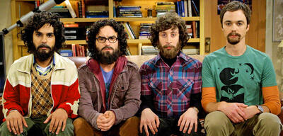 Raj, Leonard, Howard und Sheldon