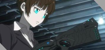Bild zu:  Akane und ihr Dominator in Psycho-Pass