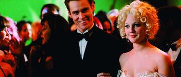 Jim Carrey an der Seite von Drew Barrymore in Batman Forever