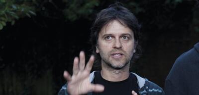 Juan Carlos Fresnadillo auf dem Set zu Intruders