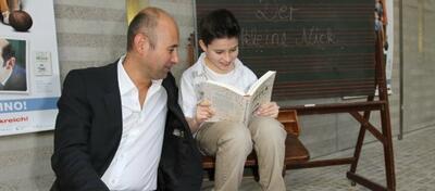 Regisseur Laurent Tirard und sein Hauptdarsteller Maxime Godart