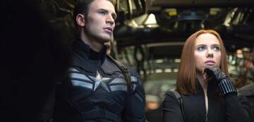 Captain America 2: Chris Evans und Scarlett Johansson