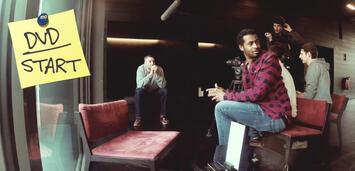 Bild zu:  Sékou Neblett (vorne) und Marcus Staiger (links hinten) beim Dreh von Blacktape