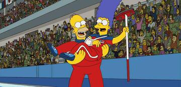 Die Simpsons als Olympiasieger