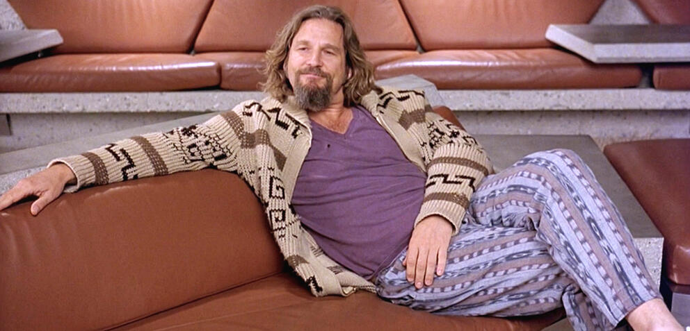 Jeff Bridges als Dude in The Big Lebowski