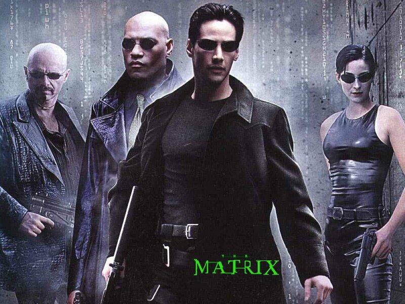 Matrix mit Keanu Reeves und Carrie-Anne Moss