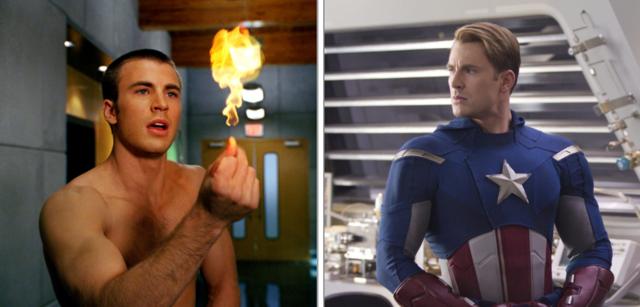Chris Evans in Fantastic Four und Marvel's The Avengers