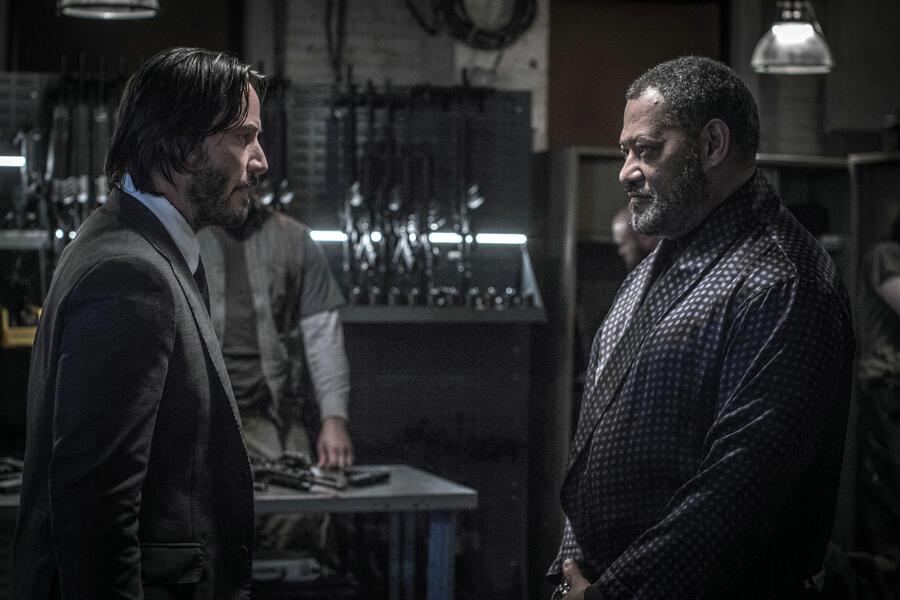 John Wick: Kapitel 2 mit Keanu Reeves und Laurence Fishburne