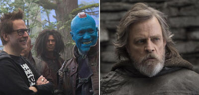 James Gunn beim Dreh zu Guardians of the Galaxy 2 / Mark Hamill in Star Wars 8