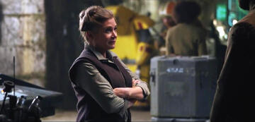 Carrie Fisher in Star Wars 7