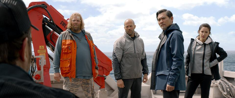 Meg mit Jason Statham, Rainn Wilson, Bingbing Li und Ólafur Darri Ólafsson