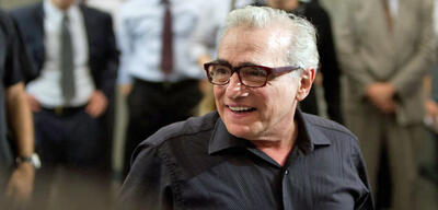 Martin Scorsese am Set zu The Wolf of Wall Street