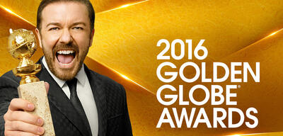 Ricky Gervais moderierte die Golden Globes 2016.