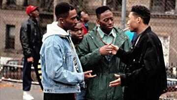 Bishop (Tupac Shakur), Steel (Jermaine Hopkins), Q (Omar Epps) und Raheem (Khalil Kain) in Juice