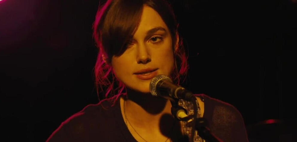 Keira Knightley inCan a Song Save Your Life?