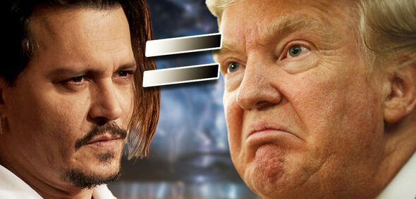 Johnny Depp als Trump