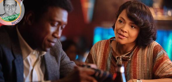 Mahershala Ali und Carmen Ejogo beim offenherzigen Bargespräch in True Detective